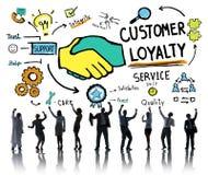 Kunden-Loyalitäts-Vorfeldwartungsdienst-Sorgfalt-Vermögensverwaltungs-Konzept Stockfotografie
