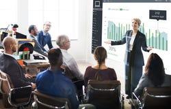 Kunden-Marketing-Verkaufs-Armaturenbrett-Grafik-Konzept lizenzfreies stockbild