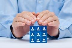 Kunden- oder Angestelltsorgfaltkonzept Lizenzfreie Stockfotos
