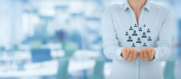 Kunden- oder Angestelltsorgfaltkonzept Stockbilder