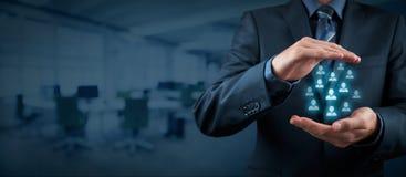 Kunden- oder Angestelltsorgfaltkonzept Stockfotografie