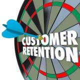 Kunden-Zurückhalten-Dartscheibe-perfekter Pfeil-Schlag lizenzfreie abbildung