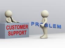 Kundenbetreuung des Mannes 3d und Lizenzfreies Stockfoto