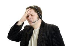 Kundenbetreuung des Sports Kommentator oder Lizenzfreie Stockbilder