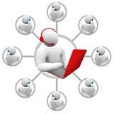 Kundenbetreuung - Netowrk des Bedieners und der aufrufenden Programme Stockfotos