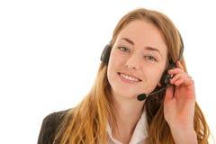 Kundenbetreuung am Telefon Stockbild