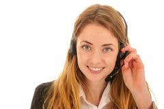 Kundenbetreuung am Telefon Stockfotografie