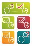 Kundenbetreuungs-Bilder vektor abbildung