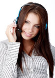 Kundenbetreuungsmädchen Stockfoto