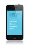 Kundendienst-Übersichtsanwendung Stockbild