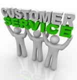 Kundendienst - Anheben der Wörter stock abbildung