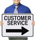 Kundendienst auf diese Weise Lizenzfreies Stockbild