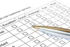 Kundendienst-Bewertung Lizenzfreie Stockfotos