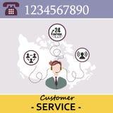 Kundendienst-Call-Center Lizenzfreies Stockfoto