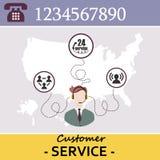 Kundendienst-Call-Center lizenzfreie abbildung
