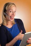Kundendienst-Dame Approving Lizenzfreie Stockfotografie
