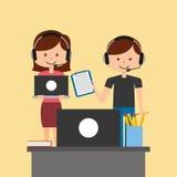 Kundendienst eine schöne lächelnde Geschäftsfrau Lizenzfreie Stockfotos