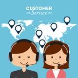 Kundendienst eine schöne lächelnde Geschäftsfrau Stockfotografie