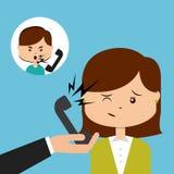 Kundendienst eine schöne lächelnde Geschäftsfrau Lizenzfreie Stockfotografie
