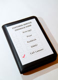 Kundendienst-Feed-back-Formularspaß einer Lizenzfreies Stockfoto