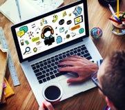 Kundendienst-Hilfsdienstleistungs-Lösungs-Stützkonzept Stockbild