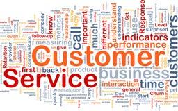 Kundendienst-Hintergrundkonzept Stockbild