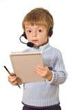 Kundendienst-Kind. lizenzfreie stockbilder