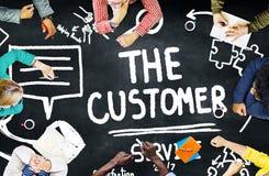 Kundendienst-Stützlösungs-Unterstützungs-Hilfskonzept Stockbild