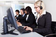 Kundendienst-Stützleute Stockfoto