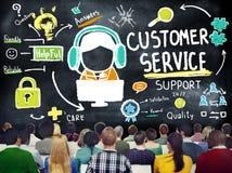 Kundendienst-Stützunterstützungs-Service-Hilfsführer-Konzept Stockfotografie