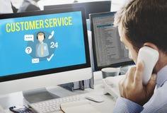Kundendienst-Zufriedenheits-Unterstützungs-Stützkonzept lizenzfreie stockbilder