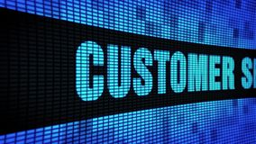 Kundendienste versehen simsen das In einer Liste verzeichnen des LED-Wand-Anzeigetafel-Zeichen-Brettes mit Seiten stock footage