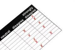 Kundendienstformular Lizenzfreie Stockbilder