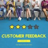 Kundenfeedback-Kommentar-Abstimmungs-Bericht-Ergebnis-Konzept lizenzfreie stockbilder
