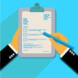 Kundenfeedbackkonzept in der flachen Art, Vektor Lizenzfreies Stockbild