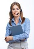 Kundenfrauenporträt Stockfotografie