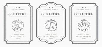 Kundengerechte Schwarzweiss-Speiseschrankaufklebersammlung lizenzfreies stockfoto