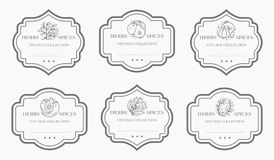 Kundengerechte Schwarzweiss-Speiseschrankaufklebersammlung lizenzfreies stockbild
