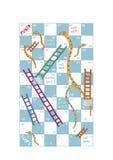 Schlangen und Leitern Stockbild