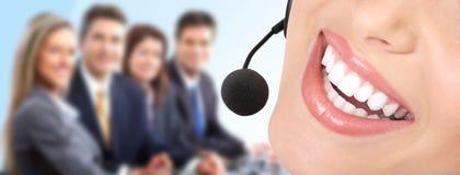 Kundenkontaktcenter-Bediener lizenzfreie stockfotos