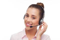 Kundenkontaktcenter-Bediener Lizenzfreies Stockbild