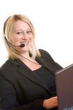 Kundenkontaktcenter-Mittel Stockfoto