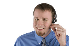 Kundenkontaktcenterangestelltlächeln Lizenzfreie Stockbilder