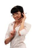 Kundenkontaktcenterbediener Stockfotografie