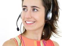 Kundenkontaktcenterbediener Stockbild