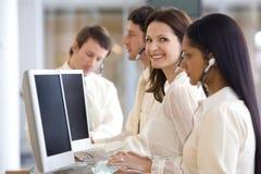 Kundenkontaktcenterfrau Lizenzfreie Stockfotografie