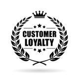 Kundenloyalitäts-Vektorikone stockfotografie