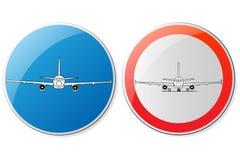 Kundenspezifische Flughafenzeichen stock abbildung