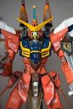 Kundenspezifische handgemalte bunte Freiheit Gundam-Action-Figur stockfotografie