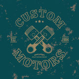Kundenspezifische Motoren T-Shirt Grafiken Vektor lizenzfreie abbildung